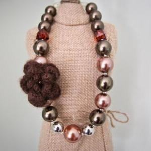 Brown Hued Chunky Toddler Necklace